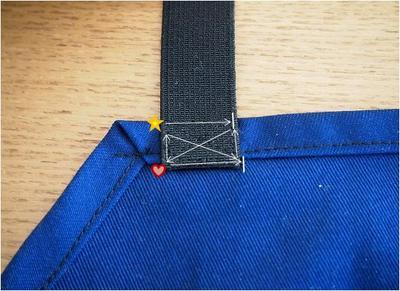 四角かバツに縫って補強